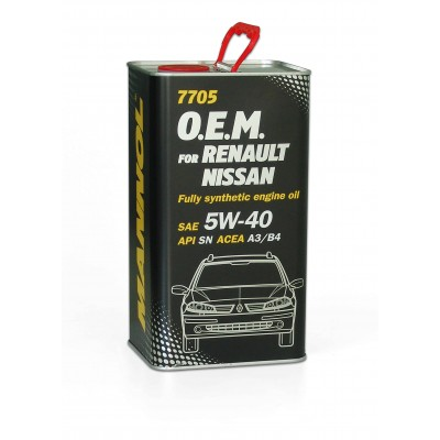 MANNOL 7705 OEM for Renault Nissan 5W-40 SN/CF 4л METAL