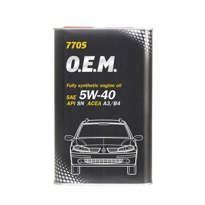 MANNOL 7705 OEM for Renault Nissan 5W-40 SN/CF 1л METAL
