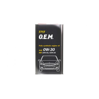 MANNOL 7717 OEM for Mercedes Benz 0W-30 4л METAL