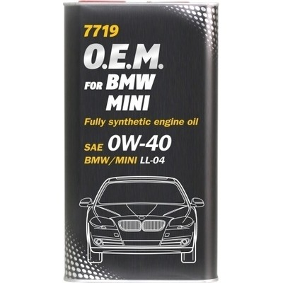 MANNOL 7719 OEM for BMW Mini 0W-40 4л METAL