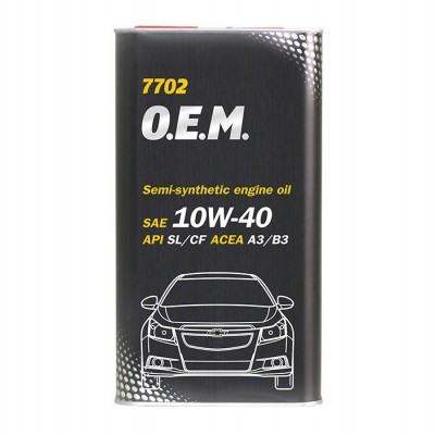 MANNOL 7702 OEM for Chevrolet Opel 10W-40 SL/CF 4л METAL