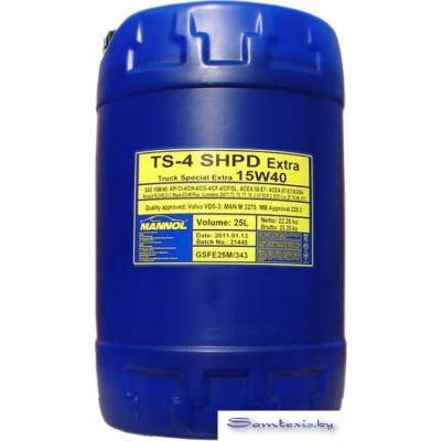 Моторное масло Mannol TS-4 SHPD 15W-40 20л