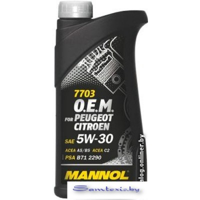 Моторное масло Mannol O.E.M. for peugeot citroen 5W-30 1л