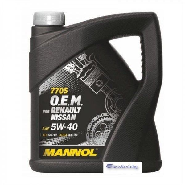 Моторное масло Mannol O.E.M. for Renault Nissan 5W-40 4л
