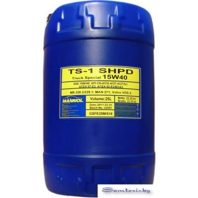 Моторное масло Mannol TS-1 SHPD 15W-40 20л