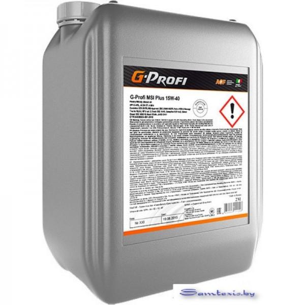 Моторное масло G-Energy G-Profi MSI Plus 15W-40 10л
