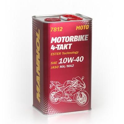 MANNOL 4-Takt Motorbike 10W-40 7812 4л METAL