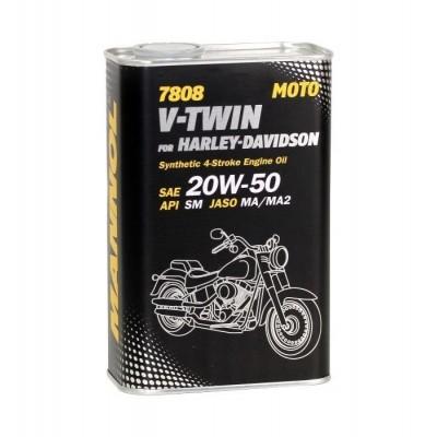 MANNOL 4-Takt V-TWIN for Harley Davidson 20W-50 SM 7808 1л METAL