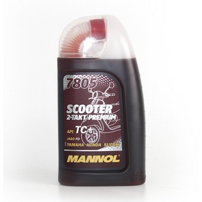 MANNOL 2-Takt Premium Scooter красное 7805 1л