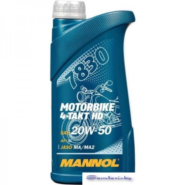 Моторное масло Mannol Motorbike 4-Takt HD 20W-50 1л
